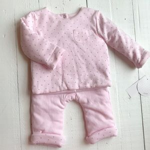 Absorba star pink matching set size 0-3 months